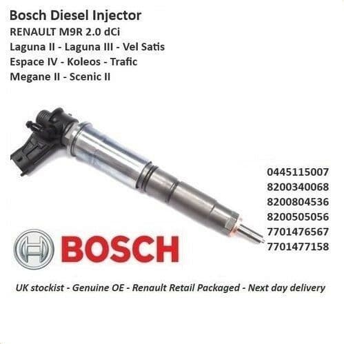 Brand New Genuine For  Nissan - Diesel Fuel Injector - 0445115007 2.0 Dci M9R